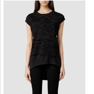 All Saints | Zira Embroidered Top size Extra Small